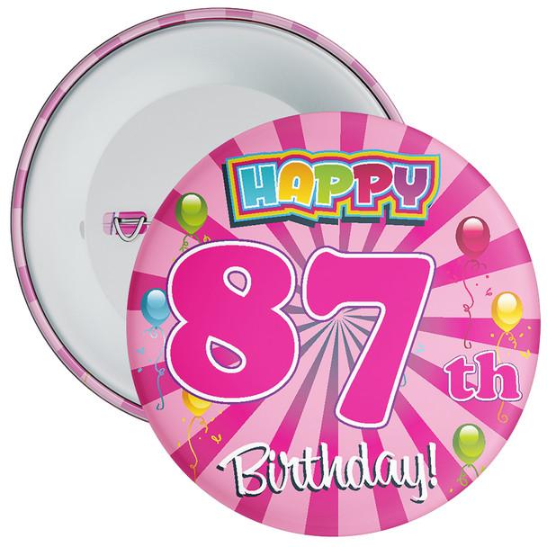 87th Birthday Badge