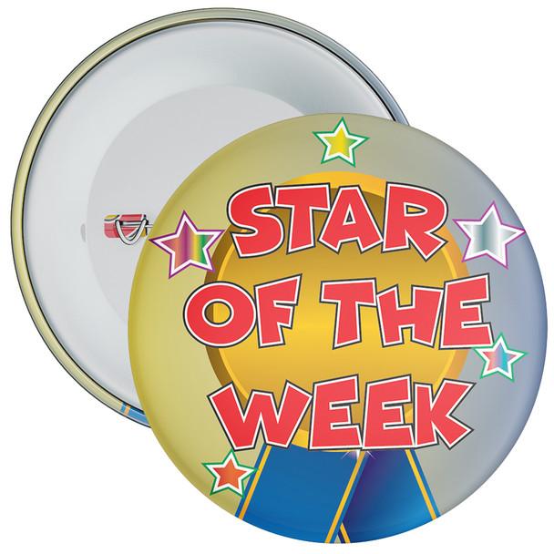 School Multi Coloured Star of The Week Reward Badge 1