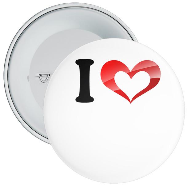 Custom I Love Badge 1