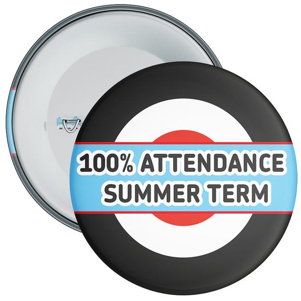 School 100% Attendance Badge Summer Term