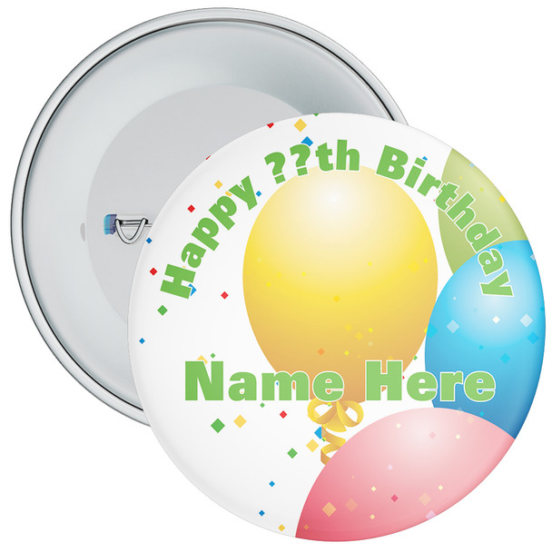 Customisable Birthday Badge 12