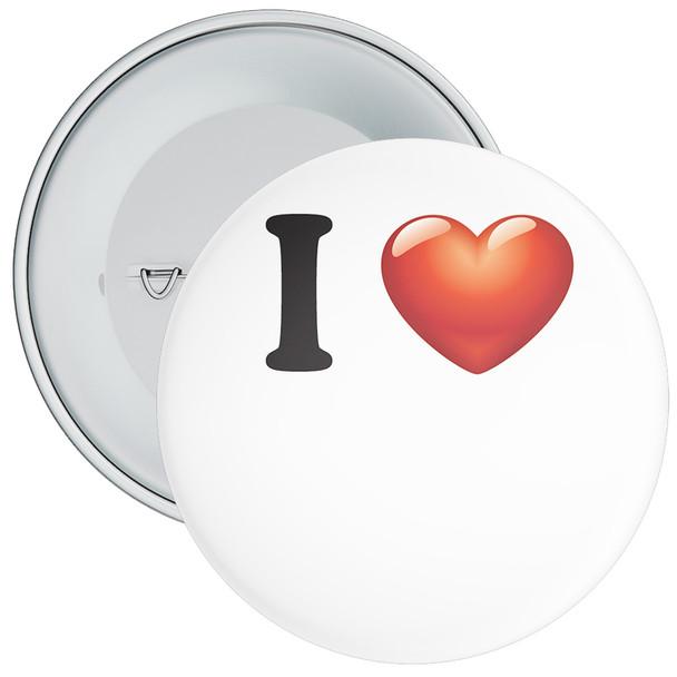White Custom I Love Badge