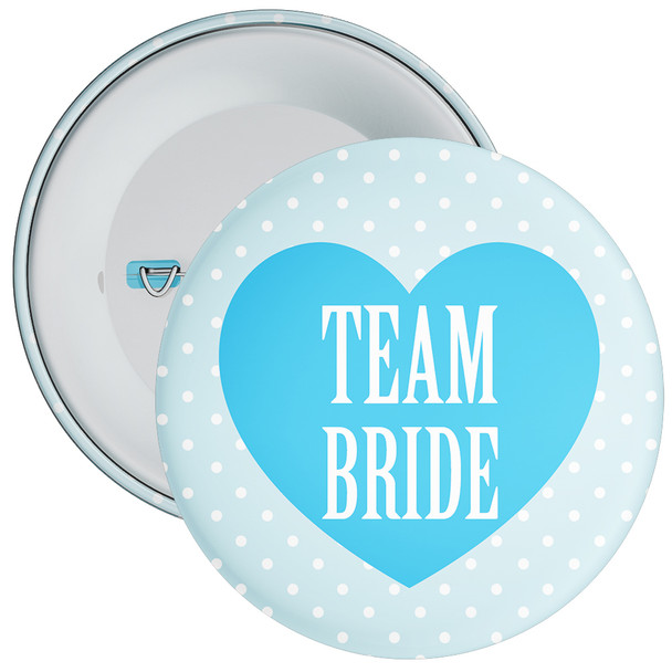 Blue Classy Team Bride Hen Party Badge