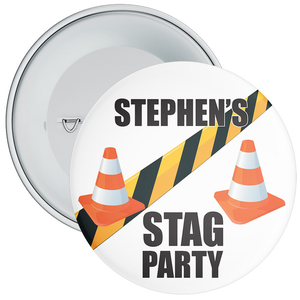 Custom Stag Party Badge 2