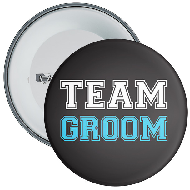 Black Team Groom Badge