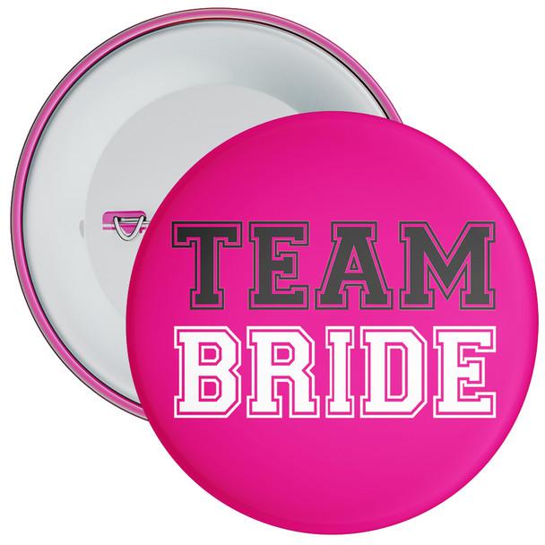 Pink and Black Team Bride Hen Badge