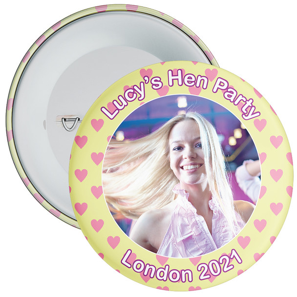 Customisable Hen Party Photo Badge 6