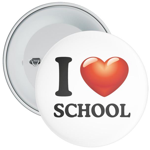 I Love School Badge