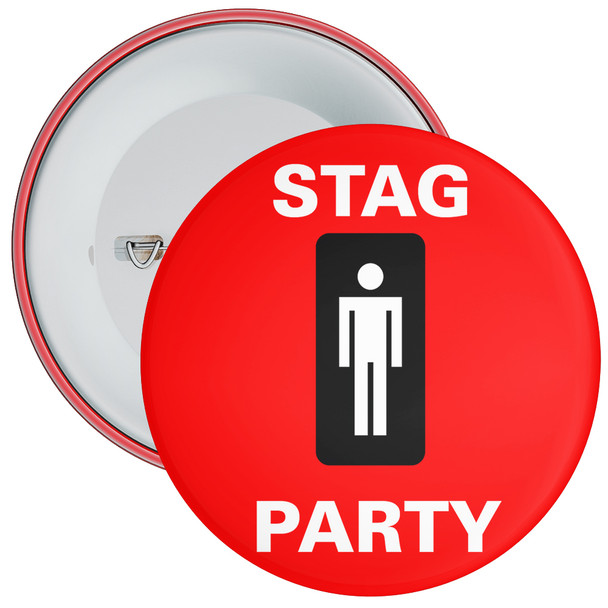 Red Stag Party Badge