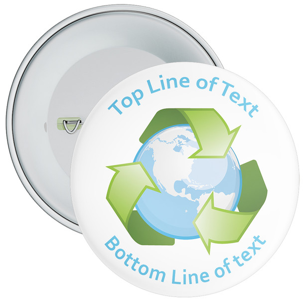 School Customisable Recycle Globe Badge