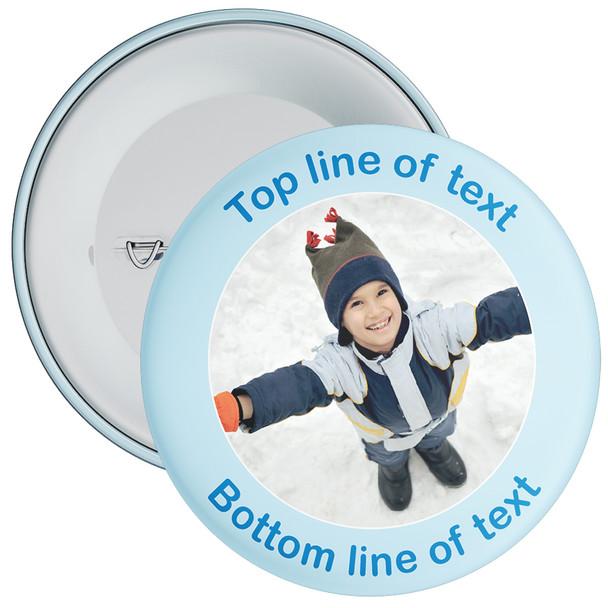 Blue Bordered Photo Badge