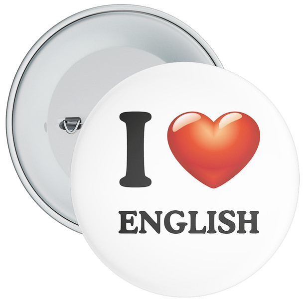 School I Love English Badge