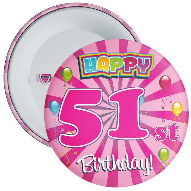 51st Birthday Badge