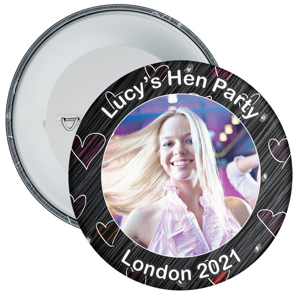Customisable Hen Party Photo Badge 1