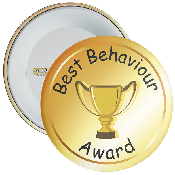 School School Behaviour Award Badge (gold)