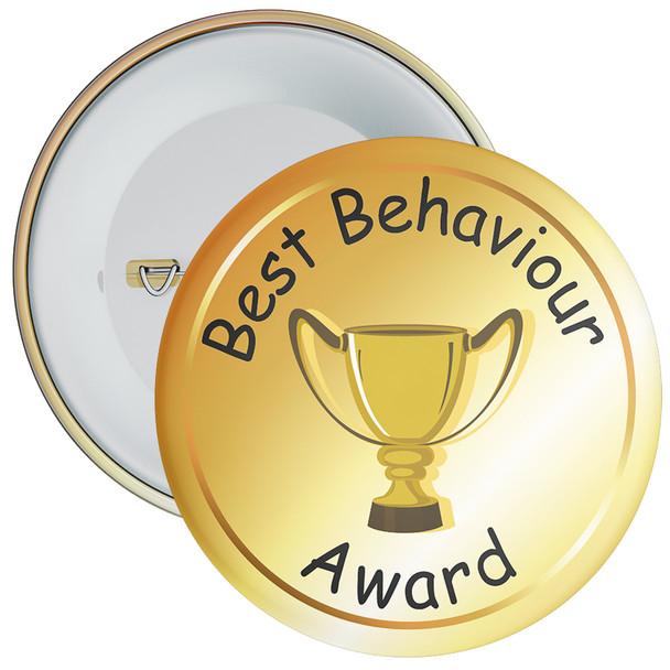 School School Behaviour Award Badge (gold)