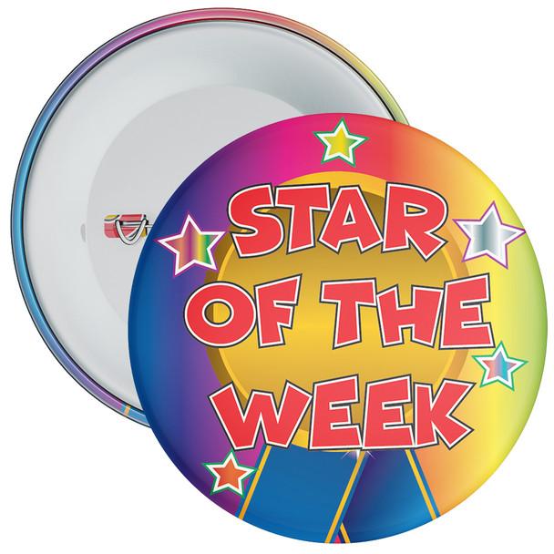 School Multi Coloured Star of The Week Reward Badge 3
