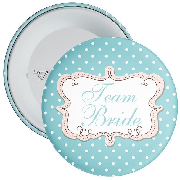 Polka Dot Style Team Bride Hen Badge