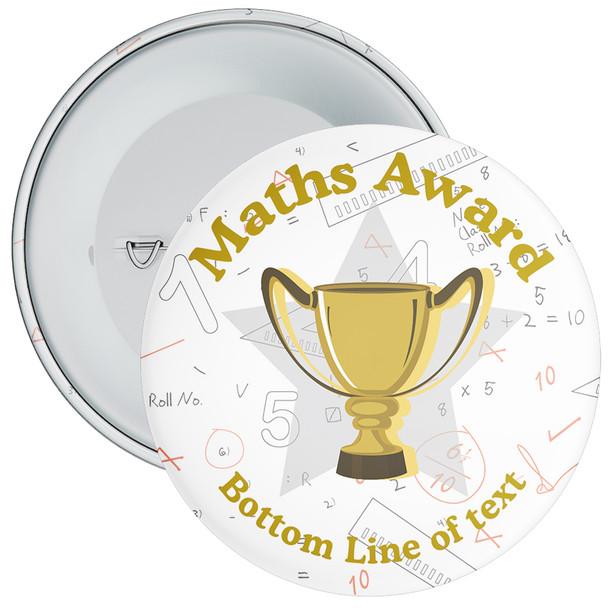 School Customisable Maths Award School Badge