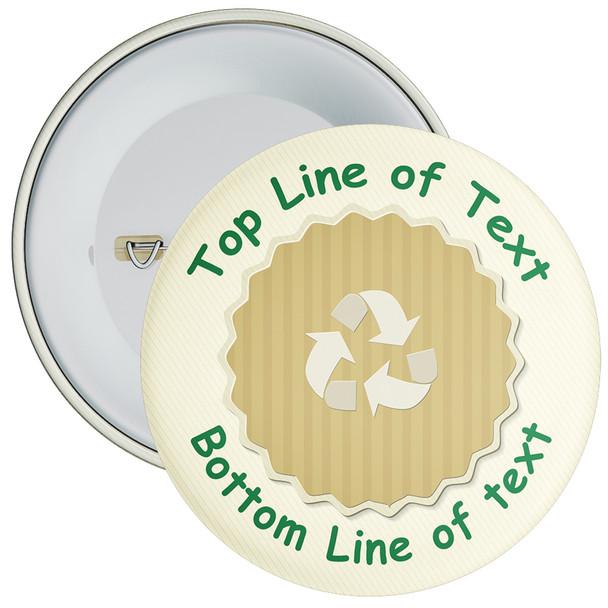 School Customisable Recycle Eco Badge