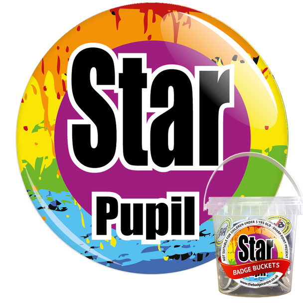 Pack of Star Pupil Badges - Badge Bucket