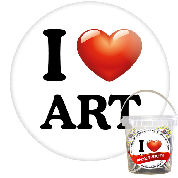 Pack of I Love Art Badges - Badge Bucket