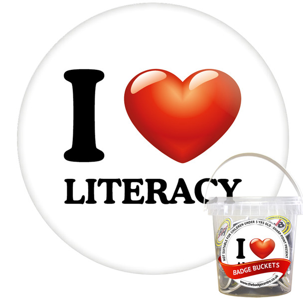 Pack of I Love Literacy Badges - Badge Bucket