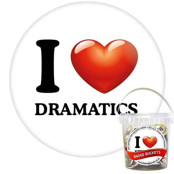 Pack of I Love Dramatics Badges - Badge Bucket