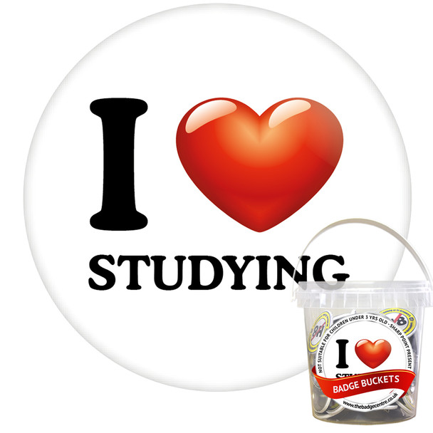 Pack of I Love Studying Badges - Badge Bucket