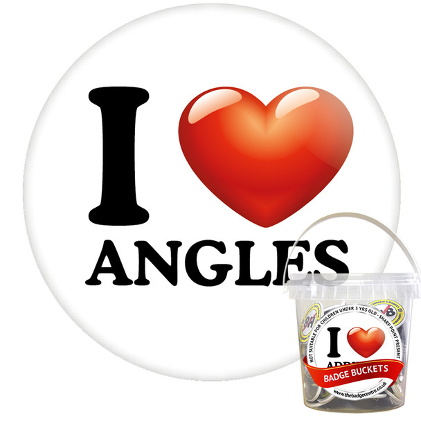 Pack of I Love Angles Badges - Badge Bucket