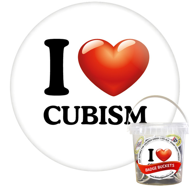 Pack of I Love Cubism Badges - Badge Bucket