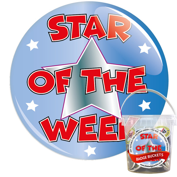 Pack of School Star of The Week Badges - Badge Bucket 1