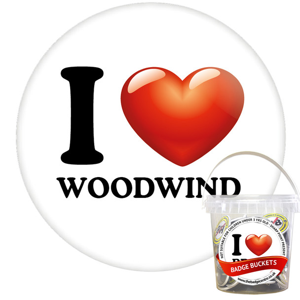 Pack of I Love Woodwind Badges - Badge Bucket