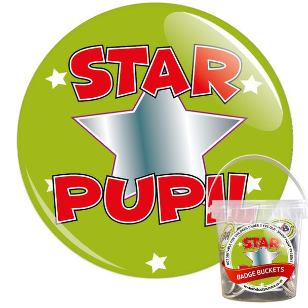 Pack of School Star Pupil Badges - Badge Bucket 2