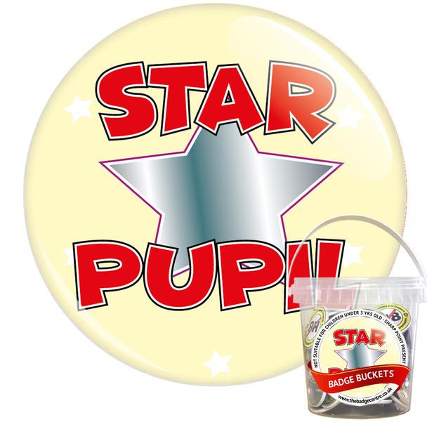 Pack of School Star Pupil Badges - Badge Bucket 8