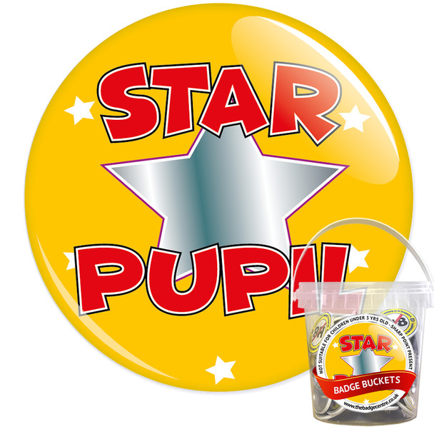 Pack of School Star Pupil Badges - Badge Bucket 10
