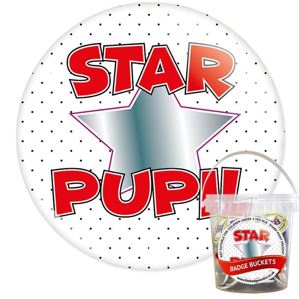 Pack of School Star Pupil Badges - Badge Bucket 17