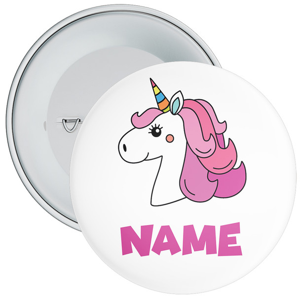 Unicorn Birthday Badge With Name 2