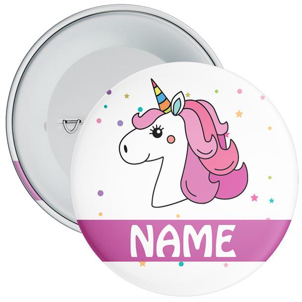 Unicorn Birthday Badge With Name 3