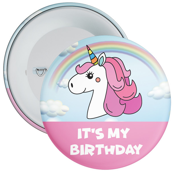 Unicorn It's My Birthday Badge
