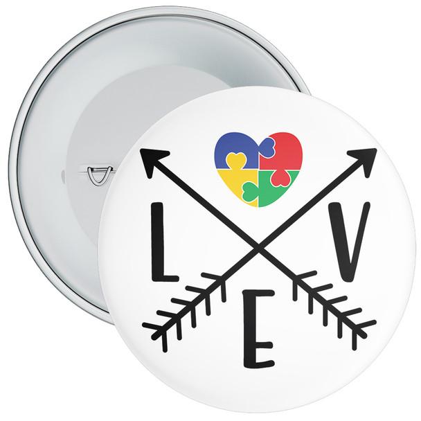 Love Autism Awareness Badge