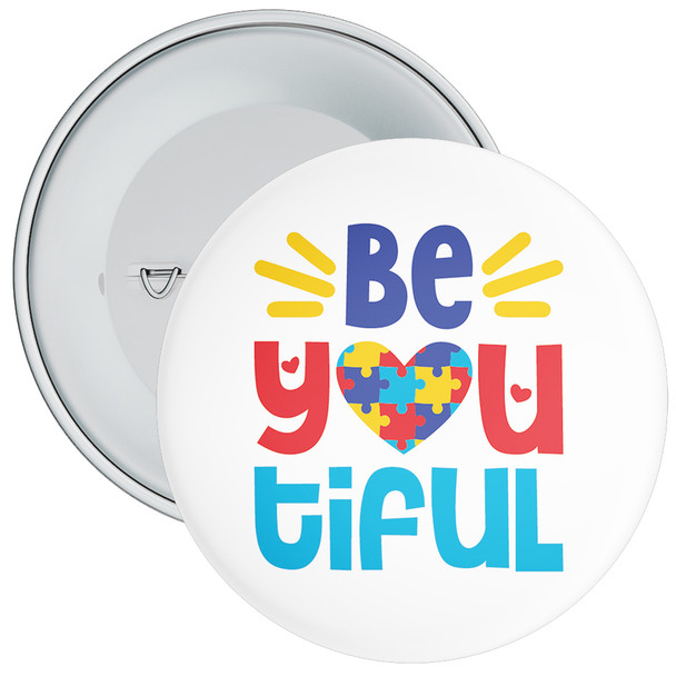 Be You Tiful Autism Awareness Badge