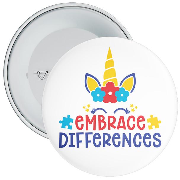 Embrace Differences Autism Awareness Badge
