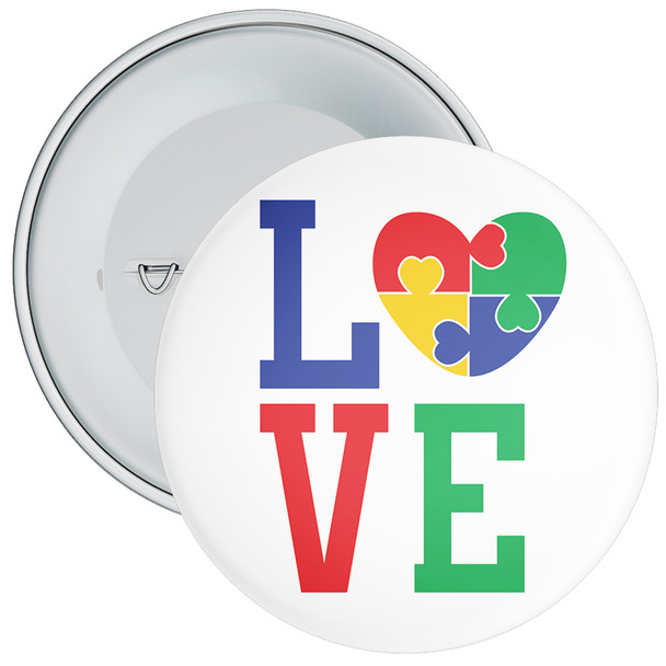 Love Autism Awareness Badge 3