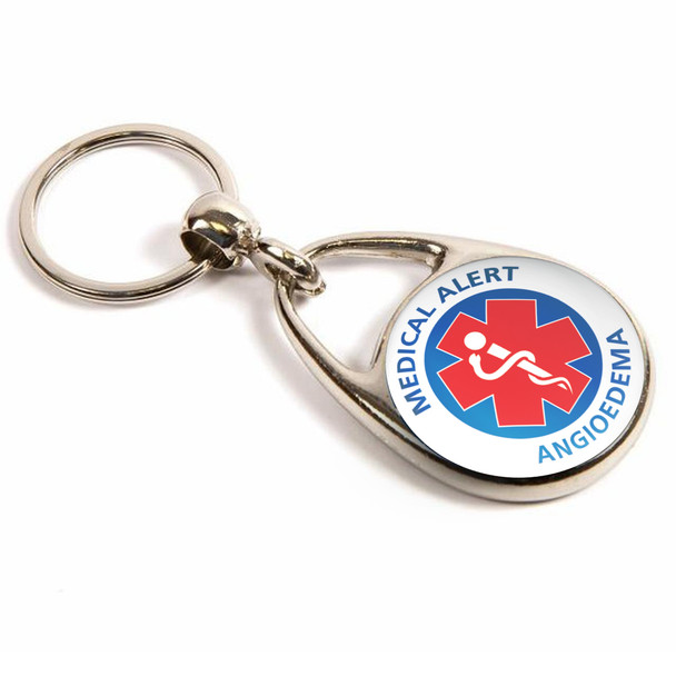Angioedema Medical Alert Keyring