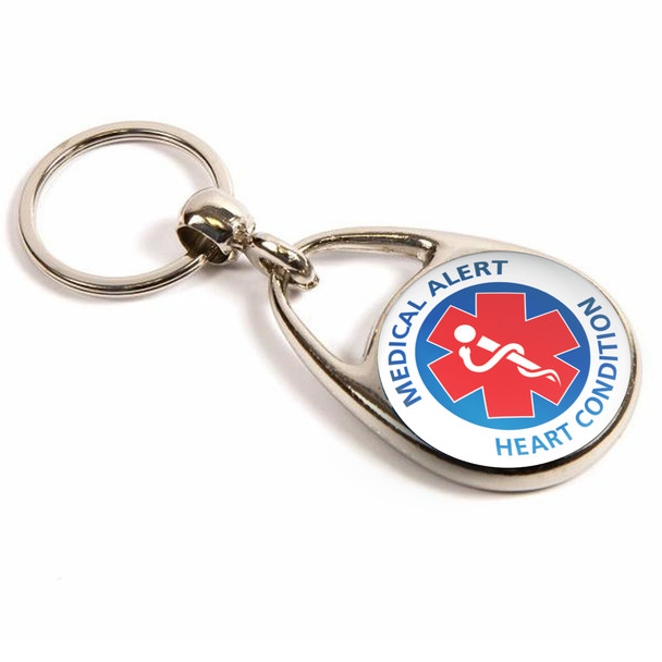 Heart Condition Medical Alert Keyring