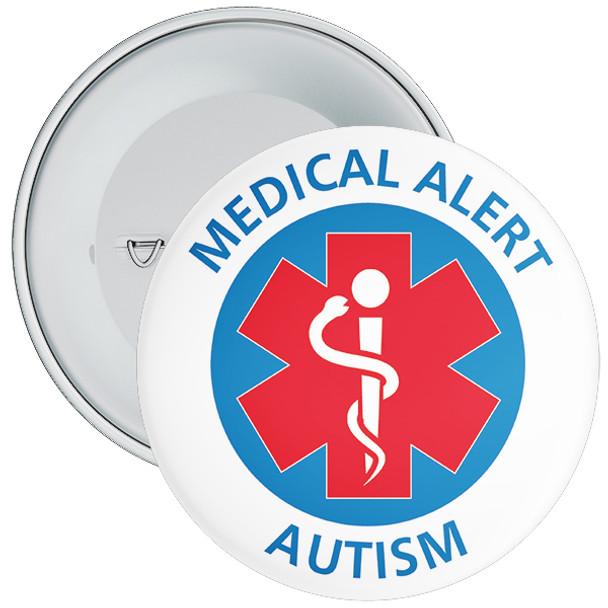 Autism Medical Alert Badge