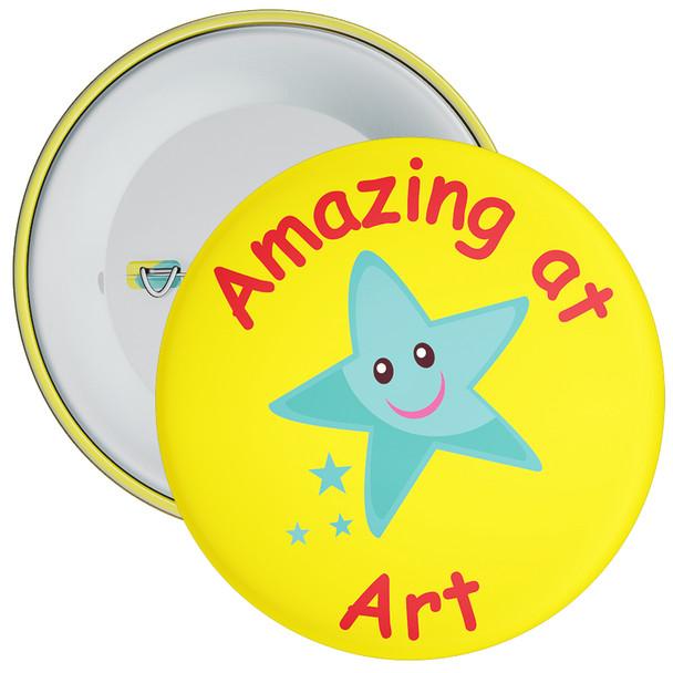 Copy of Amazing At Art (Yellow) Badge