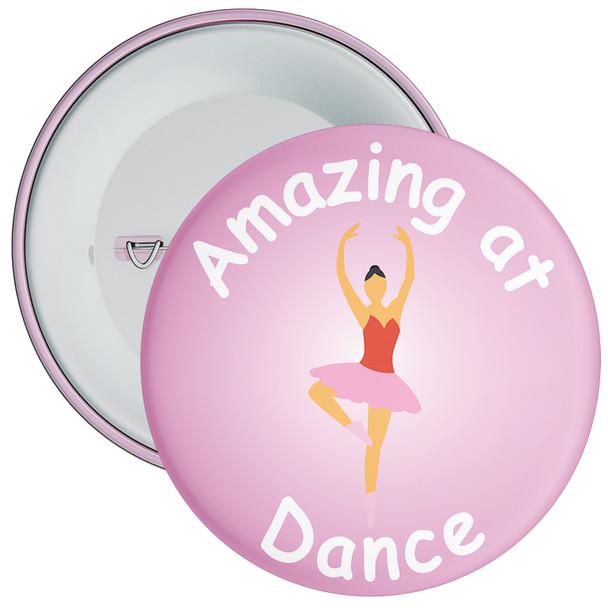 Amazing At Dance Badge Pink
