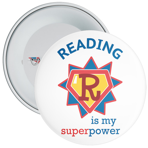 Reading Is My Super Power Badge